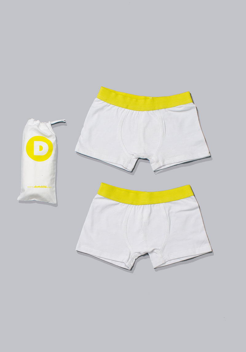 boy's white boxers